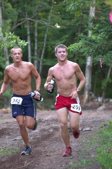 Hegge and Borst en route to a 1-2 finish at last year's Voyageur 50 Mile
